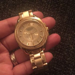 Gold stainless steel Coach watch